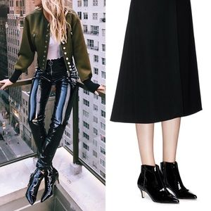 Sam Edelman Patent Leather Ankle Boots.
